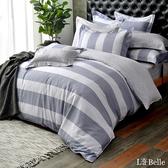 義大利La Belle《學院風範》特大純棉防蹣抗菌吸濕排汗兩用被床包組