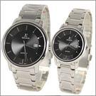 【萬年鐘錶】 日系SIGMA 經典黑對錶 1122M-1122L-1
