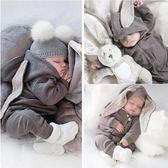 連身裝 嬰兒哈衣連身衣服外套薄款春秋外出抱衣爬服寶寶滿月百天攝影服裝 萬聖節