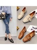 單鞋女仙女的鞋溫柔風低跟奶奶鞋百搭韓版zipper女鞋 安妮塔小舖