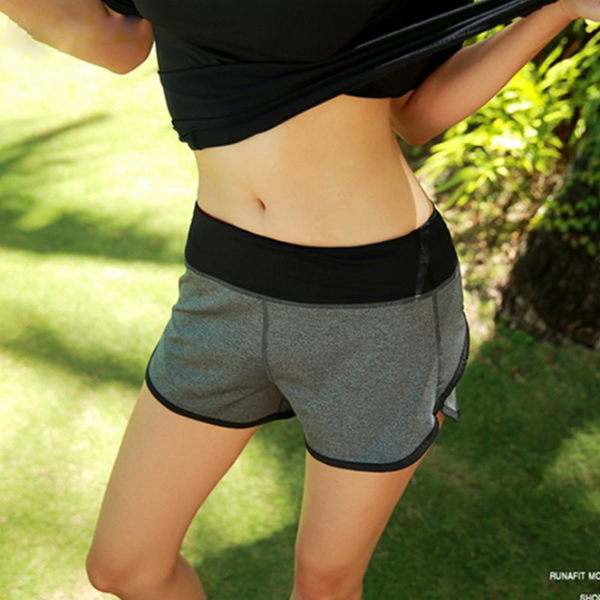 運動瑜珈健身休閒運動跑步短褲S~L【紐約七號】S1-002