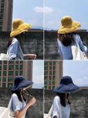 漁夫帽女夏韓版百搭日繫防紫外線遮臉帽子太陽帽遮陽帽夏天防曬帽 免運