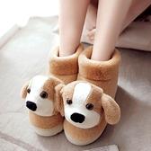 冬季保暖棉拖鞋包跟卡通家居情侶可愛室內女毛毛厚底月子高幫棉鞋 韓國時尚週