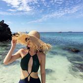沙灘帽-新款毛邊大檐拉菲草帽女潮搭沙灘帽海邊度假防曬遮陽帽潮 花間公主