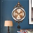 北極星歐式金屬盤搖擺靜音掛鐘客廳臥室個性創意時尚裝飾石英鐘錶  【端午節特惠】
