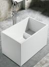 【麗室衛浴】BATHTUB WORLD  小空間福音 壓克力造型一體薄邊缸有座椅 98/105*68*H60CM