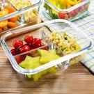 雙11好貨-飯盒玻璃分格保鮮碗微波爐分隔...