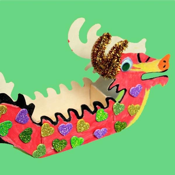 【BlueCat】兒童DIY裝飾配件材料包 亮片 毛球 毛根 眼睛貼 丙烯顏料 手作 美勞 端午 龍舟 存錢筒