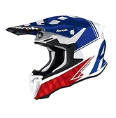 AIROH TWIST 2.0 TECH 越野帽 #32 亮白/藍紅 義大利品牌|23番 安全帽 雙D扣 輕量 透氣 全罩