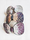 髮夾 漸層水鑽 (白、褐、紫紅) 精緻奢華時尚風軟彈簧夾