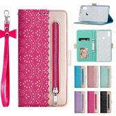 小米 紅米Note7 蕾絲拉鍊 手機皮套 掀蓋殼 插卡 支架 掛繩 內軟殼 磁扣 保護殼