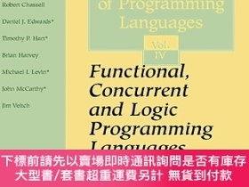 二手書博民逛書店Functional,罕見Concurrent And Logic Programming Languages