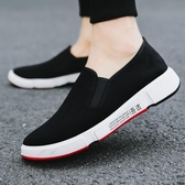 春季老北京布鞋男工作鞋子運動鞋防滑耐磨一腳蹬帆布鞋休閒鞋 歌莉婭