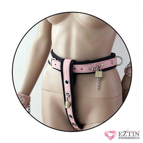 【伊莉婷】美國駭客 Toughage Wrist Cuffs Cotton Lining Chastity Belt 手腕克制棉襯鎖定帶/鎖定 粉紅