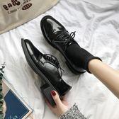 ins小皮鞋女復古英倫風黑色增高韓版百搭森女繫洛麗塔chi 伊蒂斯女装