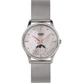 【台南 時代鐘錶 Henry London】英倫復古風潮 典雅品味月相腕錶 HL35-LM-0329 銀 35mm