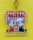 【震撼精品百貨】Peko 不二家牛奶妹~不二家壓克力吊飾-兩人愛心#63295
