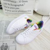 ADIDAS GRAND COURT TENNIS 女款 網球運動鞋 H01054 白x彩虹【iSport愛運動】