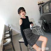 包臀裙半身裙女夏2019新款高腰時尚修身顯瘦閃亮片包臀短裙子cp742【甜心小妮童裝】