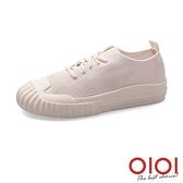 休閒鞋 韓系素面百搭飛織餅乾鞋(米) *0101shoes【18-526mi】【現+預】
