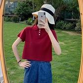 polo衫 短袖t恤女裝夏裝新款潮流超火網紅短款上衣服洋氣 - 風尚3C
