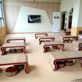 簡約幼兒園小榻榻米茶幾飄窗國學桌椅