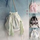 風和原創手工立體漢服包袋古風斜挎休閒包百搭手提繡花荷包包新款 蘿莉新品