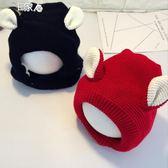 兒童毛線帽秋冬兒童毛線帽寶寶帽護耳帽針織帽男女童加絨保暖帽嬰兒套頭