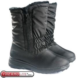 【女 中筒刷毛雪靴 黑】 SN192/中筒保暖雪靴/雪鞋/冰爪