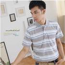 【大盤大】(P10873) 男裝 夏 薄POLO衫 透氣 橫條紋上衣 台灣製 翻領休閒衫 棉衫 有加大尺碼