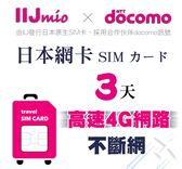 (期限2019/8/30) IIJ官方訊號3天日本網卡,採用docomo訊號,北海道、沖繩皆覆蓋