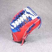 「野球魂」--「KAULIN」【店家特製】硬式棒球手套(外野手,藍×紅色)