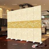 屏風隔斷客廳臥室簡約現代中式玄關移動折疊歐式簡易雙面布藝折屏 【尚美潮流閣】