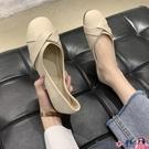 熱賣豆豆鞋 溫柔單鞋女夏2021年春季新款百搭圓頭平底軟皮淺口仙女風豆豆瓢鞋 coco