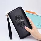 新款手拿錢包女式長款拉鏈多功能百搭皮夾大容量手機錢夾
