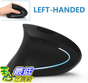 [9美國直購] 左手滑鼠 Left Handed Mouse, Lekvey Wireless 2.4G USB Left Hand Ergonomic Vertical