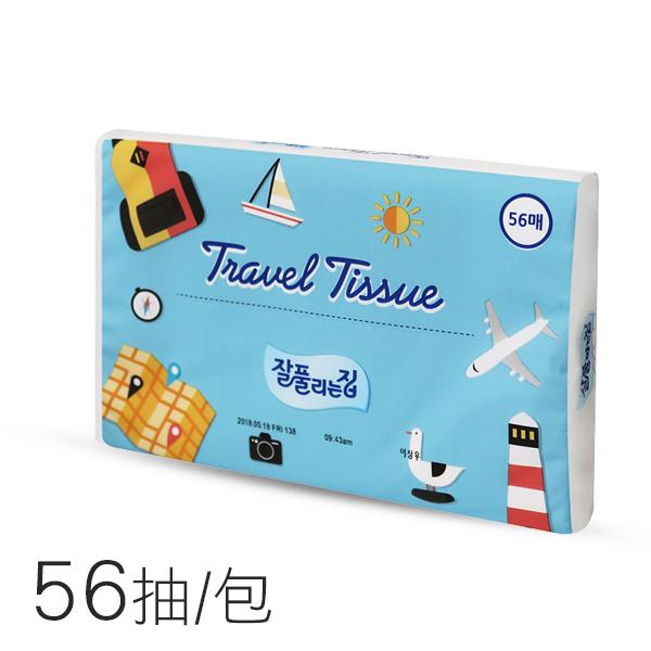 韓國 JJ 旅行面紙 56抽/包 隨身包 隨身面紙【PQ 美妝】