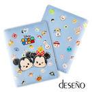 【加賀皮件】Deseno Disney 迪士尼 TSUMTSUM 手繪風 粉嫩色系 童趣 皮革護照夾 B1135-0015