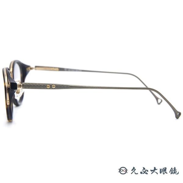 RETROCRAFT 眼鏡 RC1053 DEM (琥珀) 義大利製 鈦 圓框 近視眼鏡 久必大眼鏡