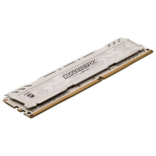 Micron Ballistix Sport LT 競技版 DDR4 3200/16GB (8GB*2) RAM 超頻記憶體 白色散熱片 BLS2K8G4D32AESCK