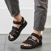 夏季學生休閒沙灘鞋 防滑百搭平底涼鞋《印象精品》q202