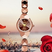 石英錶-鎢鋼潮流時尚手鍊造型女手錶2色71r38[時尚巴黎]