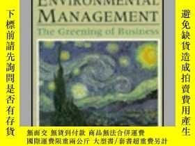 二手書博民逛書店Principles罕見Of Environmental Management: The Greening Of