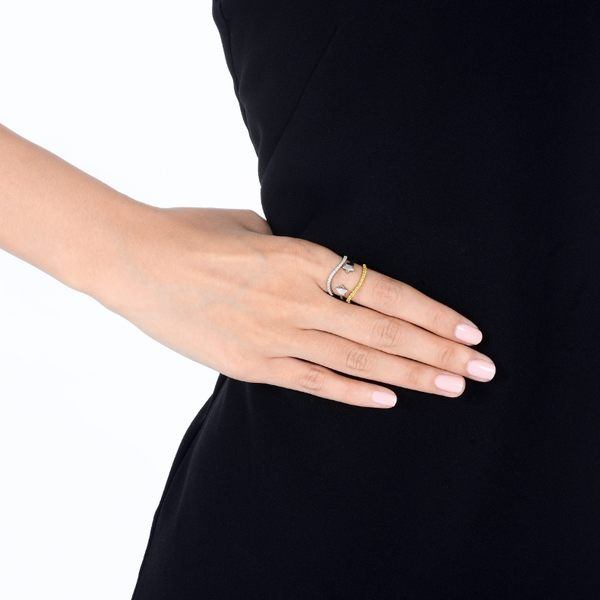 點睛品 Fingers Play 18K金耀眼星星開口造型戒指女戒