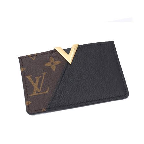茱麗葉精品 全新精品  Louis Vuitton LV M56173 Kimono 經典花紋小牛皮拼接信用卡名片夾.黑(預購)
