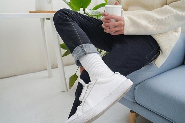韓國 牛仔 修身 高挺 直筒褲 韓國製 MADE KOREA 牛仔男