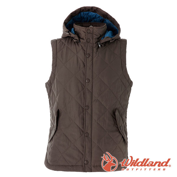 【wildland 荒野】中性 Highsoft保暖背心『深卡其』0A52791 羽絨外套│防風│保暖│防潑水│背心