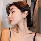 高級感字母耳環女超仙網紅長款耳飾韓國時尚氣質2020年新款潮耳墜「草莓妞妞」