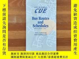 二手書博民逛書店美國深度遊:City罕見of Fairfax公交地圖及時刻表CUE Bus Route and Schedules
