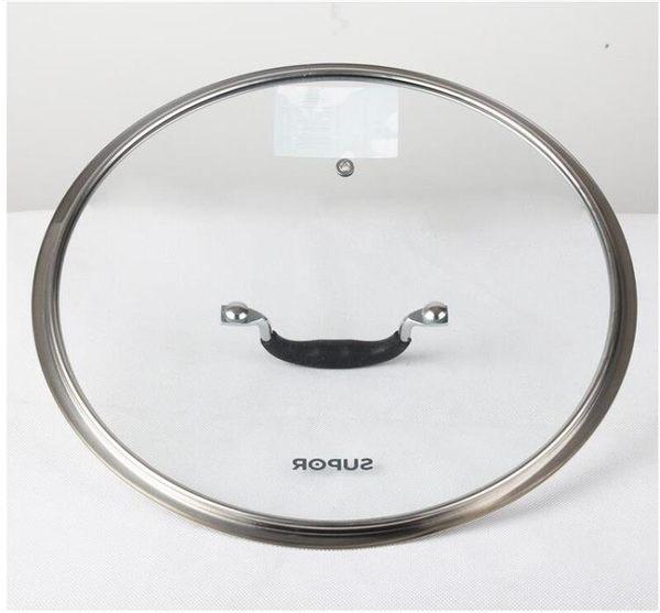 鋼化玻璃蓋 G型寬邊可視玻璃鍋蓋30/32cm 炒鍋煎鍋湯鍋蓋子【全館85折任搶】